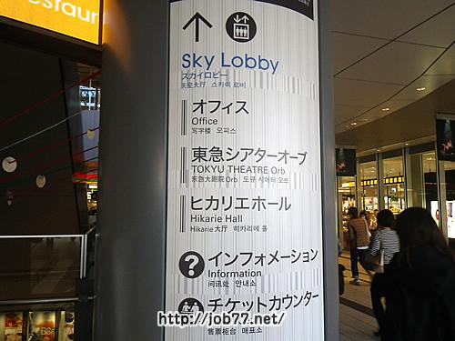 渋谷ヒカリエの案内板
